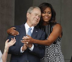 Michelle Obama Embraces George W. Bush: Why That Photo Was So ...