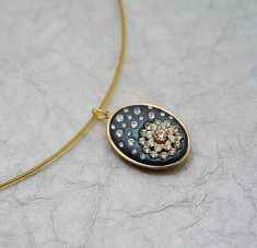 Simply Sparkly  Night Sky Swarovski Crystal & Clay by MoonBubbles, $30.00  That clay is STICKY so how she got those crystals in perfect little circles is beyond me...but I love it.