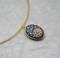 Simply Sparkly  Night Sky Swarovski Crystal & Clay by MoonBubbles, $30.00