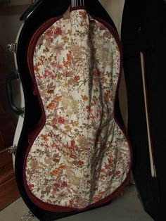 Protective blanket for cello, cello cover, cello gift, blanket for cello case Violin Makers, Burgundy Color, Vintage Cotton, Green Cotton, Cello, Printing On Fabric, Floral Design, Blanket, Cover