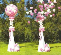 For evening when dark have white mini hearts in large clear balloon give sparklers to all guest including bride and groom. Circle around bride and groom while they release mini heart led helium balloons with their sparklers Balloon Columns, Balloon Arch, Balloon Garland, Ballon Decorations, Balloon Centerpieces, Wedding Decorations, Decoration Evenementielle, Dream Wedding, Wedding Day