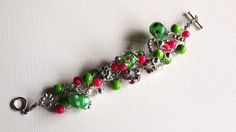 Silver Pink and Green Beaded Crocheted by SweetCarolinaCharm, $34.00