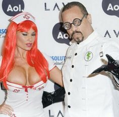 Celebrity Halloween costumes ~ Coco and Ice T as Mad Scientist and Nurse