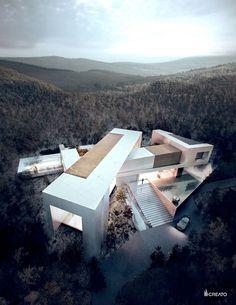 Concept Architecture, Amazing Architecture, Contemporary Architecture, Architecture Design, Contemporary Design, Villa Design, Modern House Design, Design Art, Design Ideas