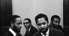 "jazzyzin: ""Jazz: The Modern Jazz Quartet [left to right: Percy Heath, Milt Jackson, John Lewis, and Connie Kay] in New York City 1958 (photo by Dennis Stock) Listen to The Modern Jazz Quartet...."