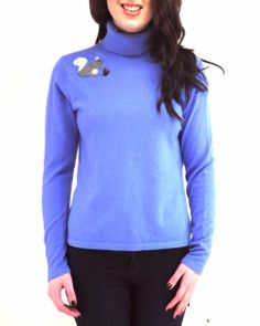 How pretty is this #cashmere turtle neck sweater? The frosty purple color is perfect for winter!