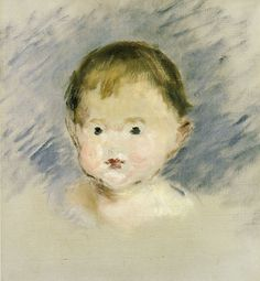 Edouard Manet | Portrait of Julie Manet as a Baby, 1879 36 x 33 cm Oil on canvas | Private collection