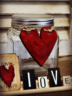 When Valentine's Day comes, why not create a holiday Mason jar craft to help you enter a warm and fuzzy spirit? We are very happy to provide you with a summary of Valentine's Day Mason jar ideas and tutorials. From Valentine Painted and Distressed He Salt Dough Projects, Salt Dough Crafts, Mason Jar Gifts, Mason Jar Diy, My Funny Valentine, Love Valentines, Valentines Day Decorations, Valentine Day Crafts, Heart Decorations