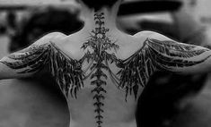 Best Tattoo Trends & Raven Skeleton Tattoo on the Back , Tattoo Source by hairsrylesoz Best Tattoo Trends & Raven Skeleton Tattoo on the Back Badass Tattoos, Body Art Tattoos, Sleeve Tattoos, Tatoos, Feather Tattoos, Trendy Tattoos, Tattoos For Women, Tattoos For Guys, Tattoo Main