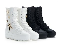 Knights of popular elements: metal popular boots: colour: white, black