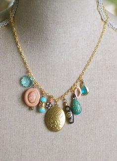 Janie. bohemian stylelocketcharm necklace. by tiedupmemories, $36.00