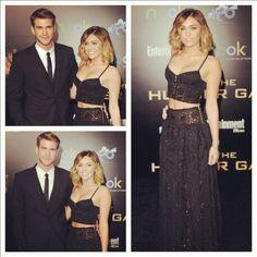 Miley Cyrus and Liam Hemsworth. #HungerGames