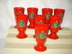 Waechtersbach Germany Christmas Tree 8 China Tumblers 6 oz. & Vintage Waechtersbach Christmas Tree Dinnerware.   Navidad ...