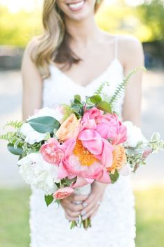 Bright summer bouquet: http://www.stylemepretty.com/2014/12/05/whimsical-summer-wedding-at-highlands-country-club/ | Photography: Cassi Claire - http://www.cassiclaire.com/