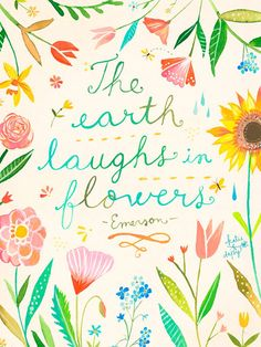The Earth Laughs in Flowers - good canvas for Emi's room
