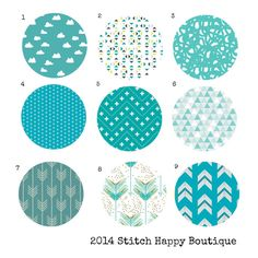 Custom Color Choice Turquoise Aqua Fabric 2 by StitchHappyBoutique