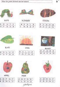 Werkblad letters: Kleur de juiste letters