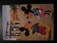 1962...Vintage Walt Disney Postcard...Mickey and Minnie Mouse in Italy!
