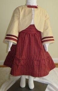 #04-002 Little girls Zouave, skirt and garabaldi blouse