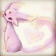 Espeon - Pokemon that evolves from Eevee