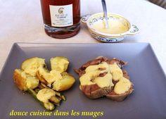 Langue de veau au sabayon au Ratafia Champenois et citron caviar avec pommes de terre des îles