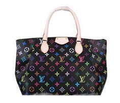 Louis Vuitton Monogram Multicolore Turenne MM Bag M48814 Black - $209.00