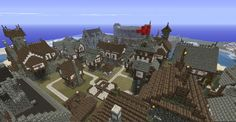 Big Medieval town of Enconia Minecraft Project Minecraft medieval Minecraft medieval village Minecraft city