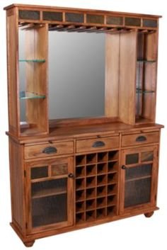 Sunny Designs Sedona Oak & Slate Back Bar $679