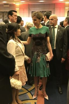 Spain's Queen Letizia attends a meeting with Spanish residents in Japan held in Tokyo, Japan, 05 April 2017. The Spanish Royal couple is on a state visit to Japan.