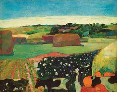 Gauguin:Haystacks in Brittany 1890