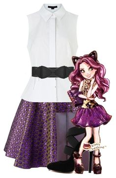 EVER AFTER HIGH FAYBELLE THORN DOLL OUTFIT REPLACEMENT BLACK SHIRT DRESS TOP