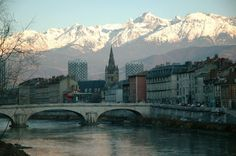 Grenoble, France. Grenoble lies in southeastern France, at the foot of the French Alps. Where I'll be living from January to June.