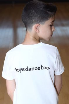 "boysdancetoo. - the dance store for men — The ""boysdancetoo."" CLASSIC Statement Tee - BOYS"