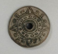Spindle whorl (malacate)   Mexico, unspecified   Collected by Zelia Nuttall, ca. 1902-15