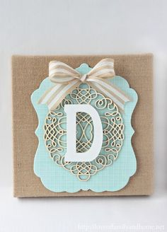 DIY Layered Burlap Monogram