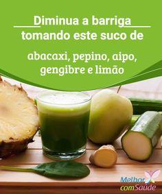 """Diminua a barriga tomando suco com receita de abacaxi  A barriga costuma ser uma área """"problema"""" do corpo para milhões de pessoas em todo o mundo. Conheça um suco capaz de reduzi-la."""