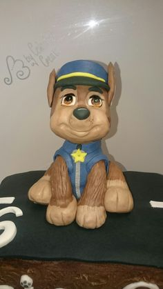 Chase from paw Patrol cake by Celestial Create