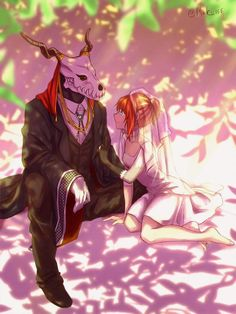 the ancient magus bride chise & elias art Manga Anime, Anime Art, Elias Ainsworth, Best Romance Anime, Chise Hatori, Geeks, The Ancient Magus Bride, Elves Fantasy, Fantasy Art