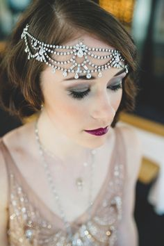 Boardwalk Empire Inspired Styled Wedding Shoot | Edward Lai Photography | flapper girl hairstyle