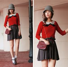 Fake peter pan collar print (by Mayo Wo) http://lookbook.nu/look/2566247-fake-peter-pan-collar-print
