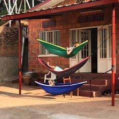 Creative ways to study on #studyabroad! #hammocks