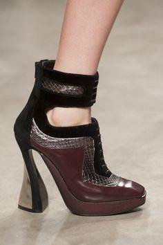 Our 40 Favorite Shoes From London Fashion Week: Marios Schwab Fall 2013  : Mary Katrantzou Fall 2013  : Burberry Fall 2013  : Peter Pilotto Fall 2013