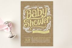 """Show Poster"" - Customizable Baby Shower Postcards in Yellow by Alethea and Ruth. Unique Baby Shower, Gender Neutral Baby Shower, Baby Shower Fun, Rustic Invitations, Baby Shower Invitations, Party Invitations, Invites, Horse Baby Showers, Make Way For Ducklings"