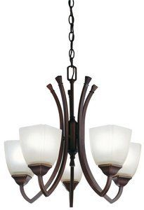 Piedmount 5 Light Chandelier Finish: Antique Bronze by Lithonia Lighting. $275.63. 10865 BZA Finish: Antique Bronze Features: -Five light chandelier.-Sand textured beige glass diffuser.-Transitional style.-Shade provides a wide spread uniform illumination.-Suspended by matching support arms, chain and canopy.-Electronic ballast ensures no flickering and quiet operation without interfering other electronics.-Use with non-dimmable switches only.-Eco friendly.-Energy sta...