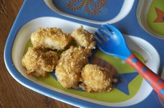 Chicken Bites in ranch sauce and cracker coating.