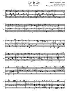 Disney frozen   let it go - violin and piano by Nicolas Rodrigues via slideshare