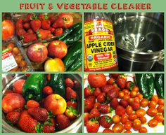 Easy vegetable & fruit cleaner. Best way to clean your fruits & vegetables!  #organic #diy #cleaner #homemade
