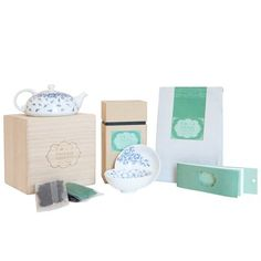 Fluttering Leaves Tea Set, by Tranquil Tuesdays. Available at ahalife.com