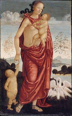The Theological Virtues: Faith, Charity, Hope Italian (Umbrian) Painter, ca. 1500 Medium: Tempera and gold on wood