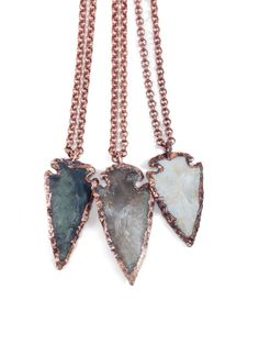 NATIVE ROOTS // Agate Arrowhead Necklace